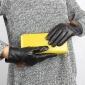 冬季 女士水貂毛毛球保暖真皮手套 �瓶�加厚防寒手套 �S家直�N